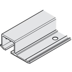 EKU Clipo csavarozható felső sín 2500mm Alumínium