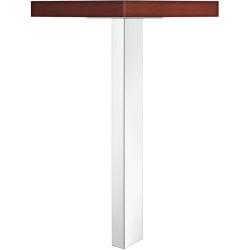 635.67.214 polírozott króm acél bútorláb 705x100x50mm
