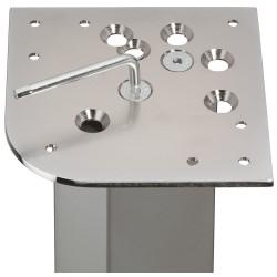 635.67.290 polírozott króm asztalláb felfogató 162mm