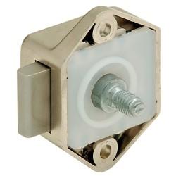 211.61.704 Push-Lock Mini bútorzár 15mm Fehér