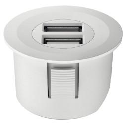 833.73.752 Loox USB csatlakozó 12V Matt fehér