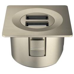 833.73.756 Loox USB csatlakozó 12V Matt nikkel