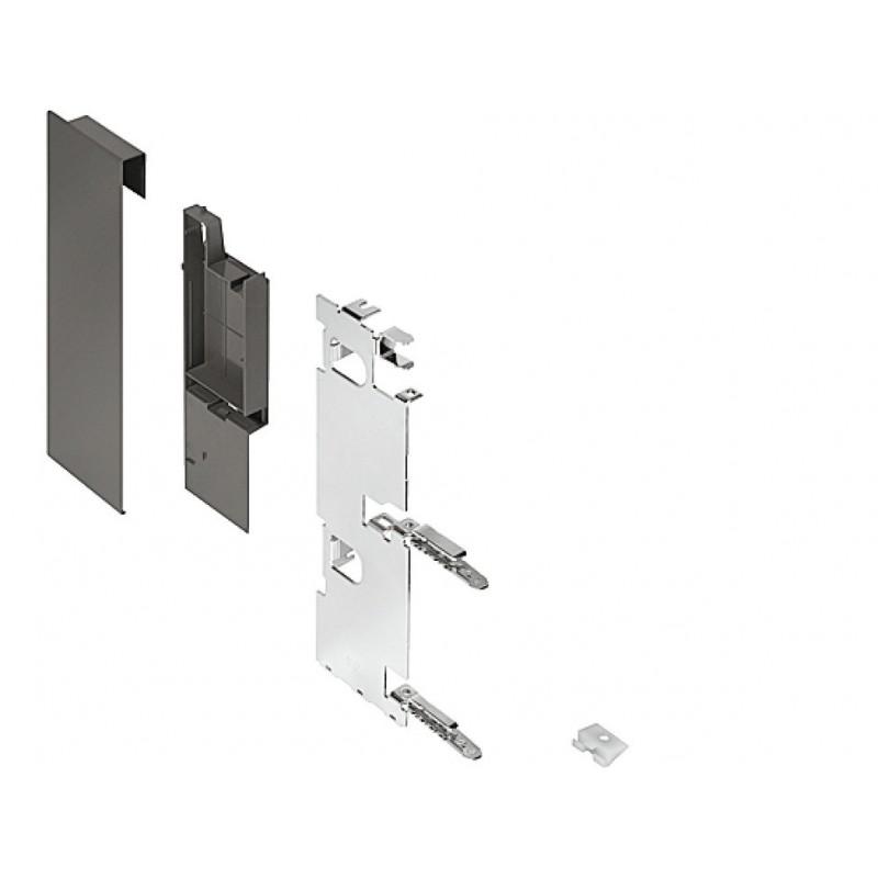 ZI7.3CS0 Legrabox előlaprögzítő belső fiókhoz C magasság korláttal Selyemfehér matt