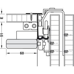 400.51.421 Smuso CD 50/100 csillapító garnitúra 2 ajtószárnyhoz