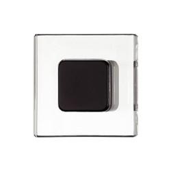 138.26.350 matt fekete/átlátszó 40x40mm