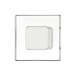 138.26.750 matt fehér/átlátszó 40x40mm