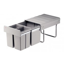 Háromrészes hulladékgyűjtő 8+8+16liter