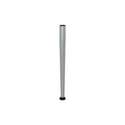 Kúpos fehéralumínium színű asztalláb 710mm