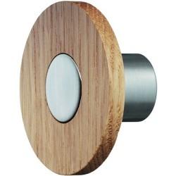 196.45.400 lakkozott tölgy/rozsdamentes acél színű 50x25 mm
