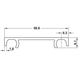 Finetta Spinfront összekötő profil 3500mm